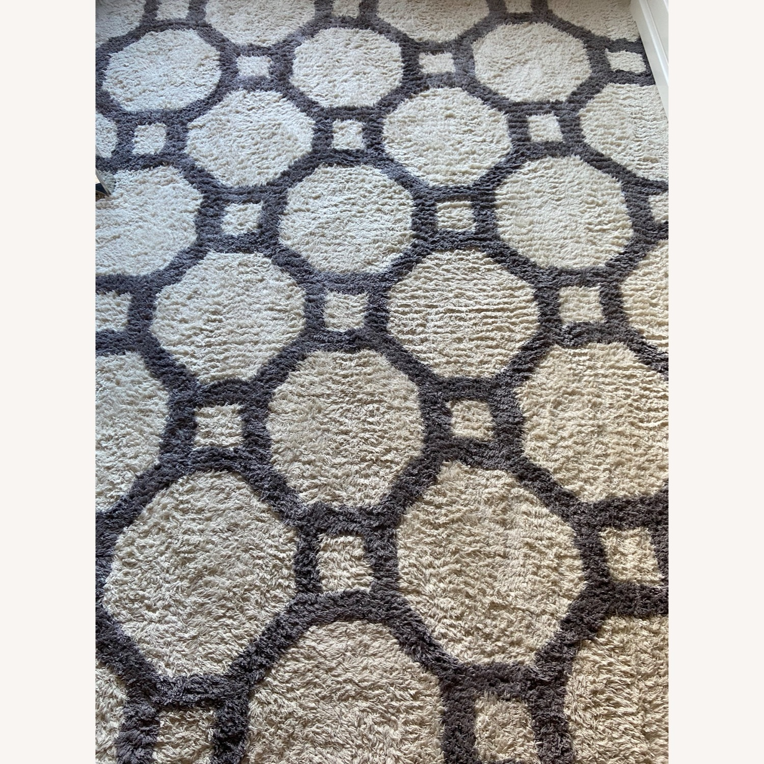 Gray and White Area Rug - image-3
