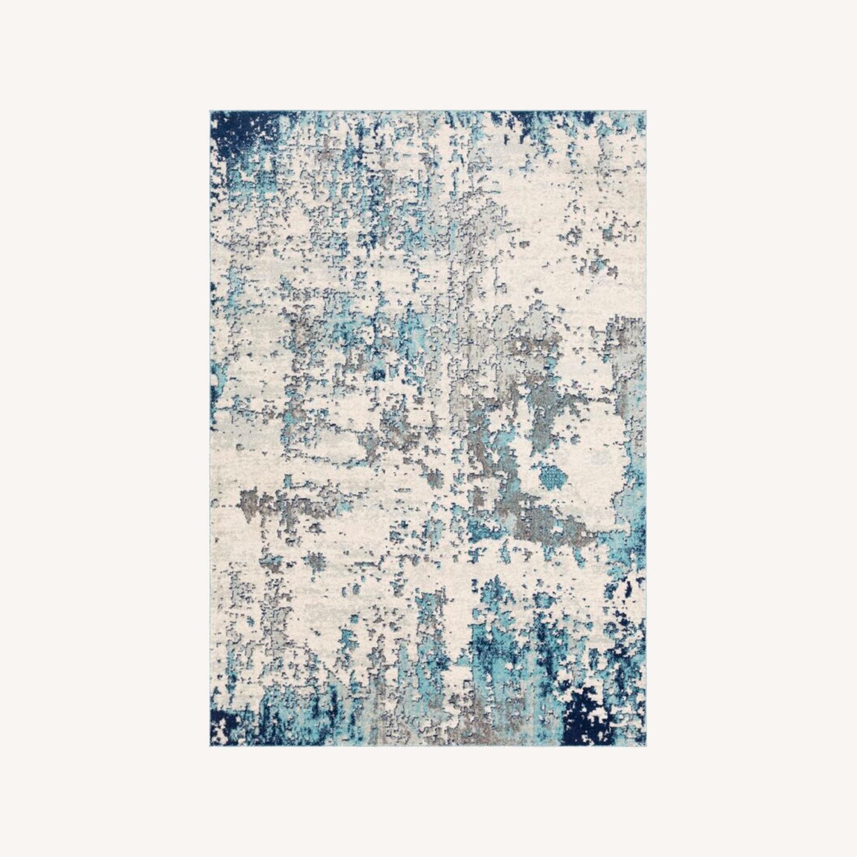 Wayfair Navy/White/Grey Area Rug - image-0