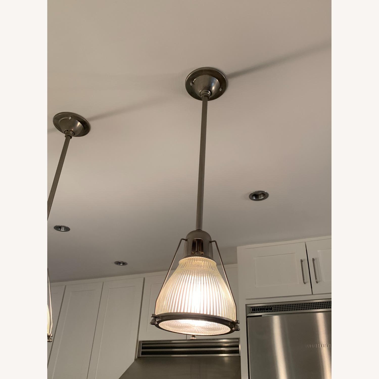 Brushed Nickel Pendant Lights (set of 3) - image-2