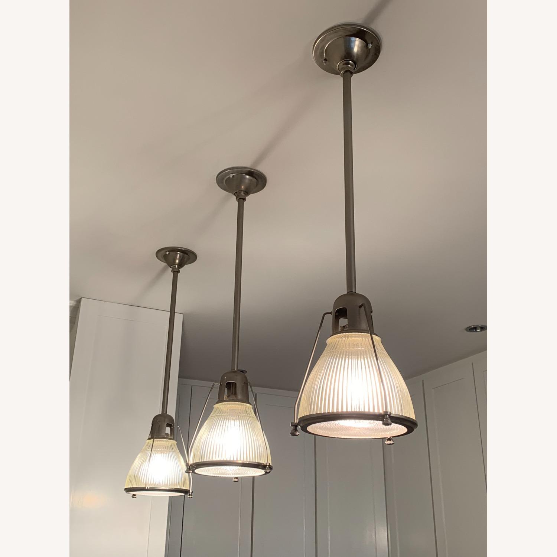 Brushed Nickel Pendant Lights (set of 3) - image-1