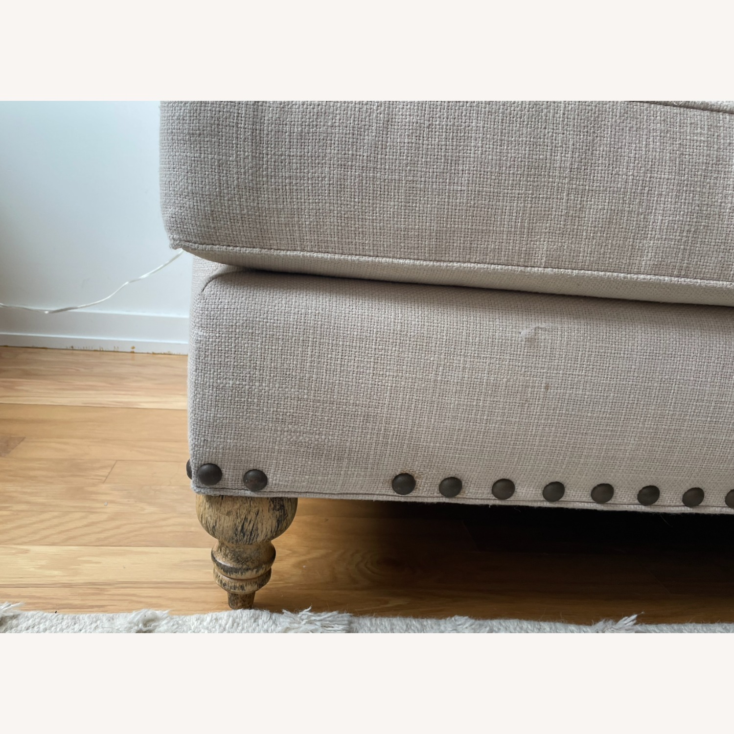 Arhaus White Couch - image-5