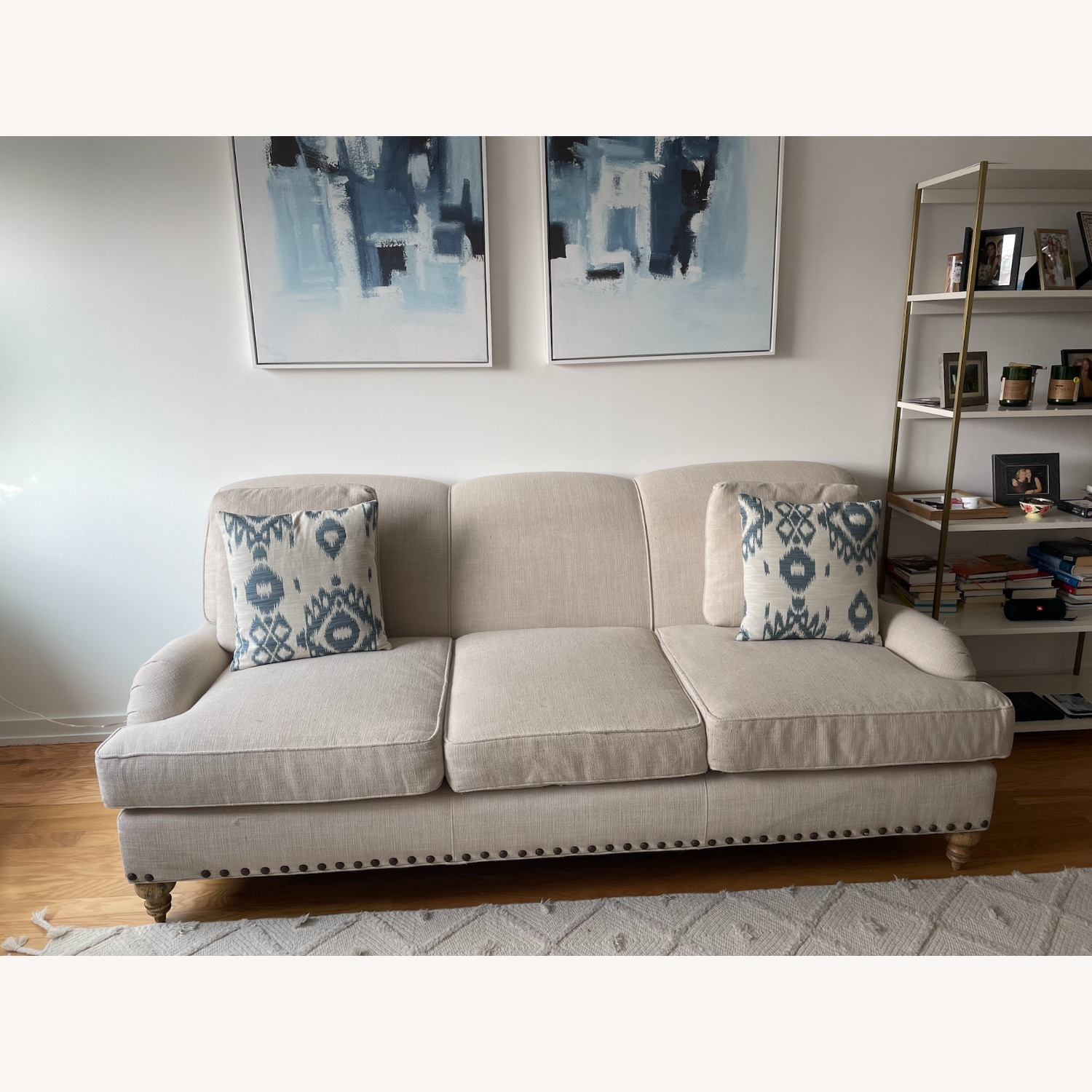 Arhaus White Couch - image-1