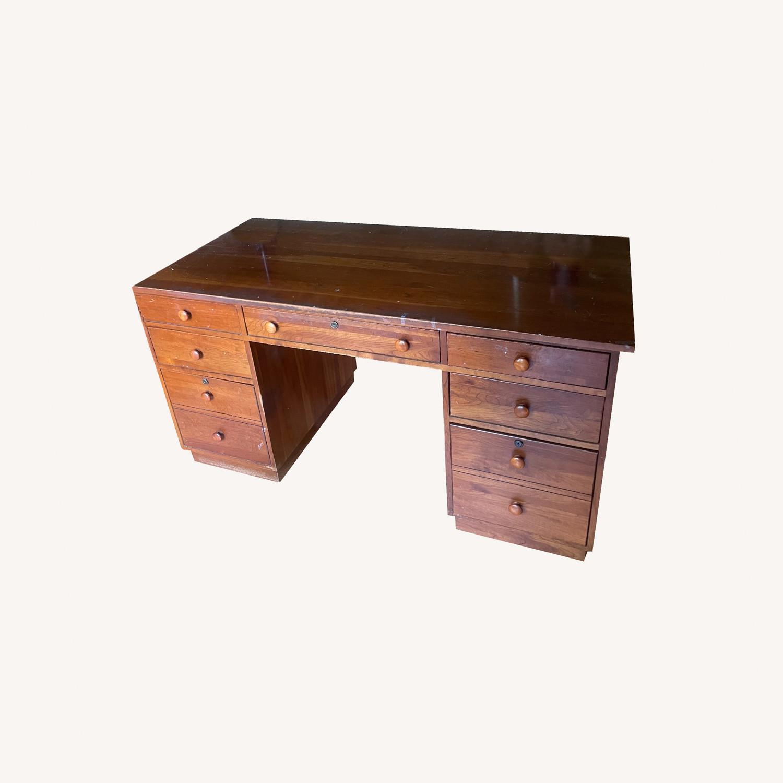 Ethan Allen Cherry Wood Desk - image-0