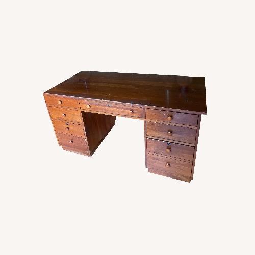 Used Ethan Allen Cherry Wood Desk for sale on AptDeco