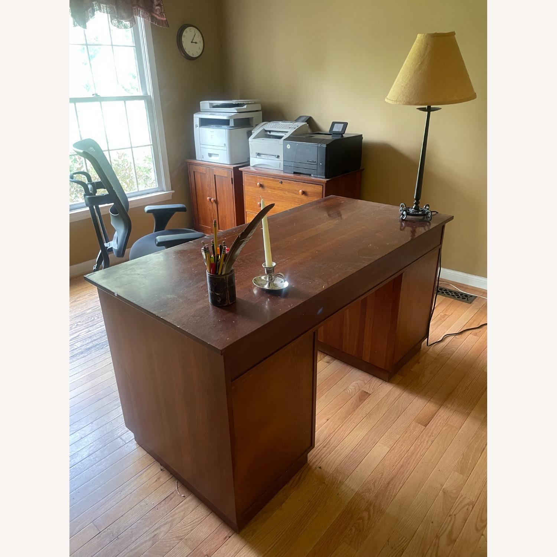 Ethan Allen Cherry Wood Desk - image-1