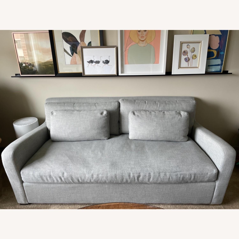Restoration Hardware Belgian Slope Arm Sofa - Grey - image-2