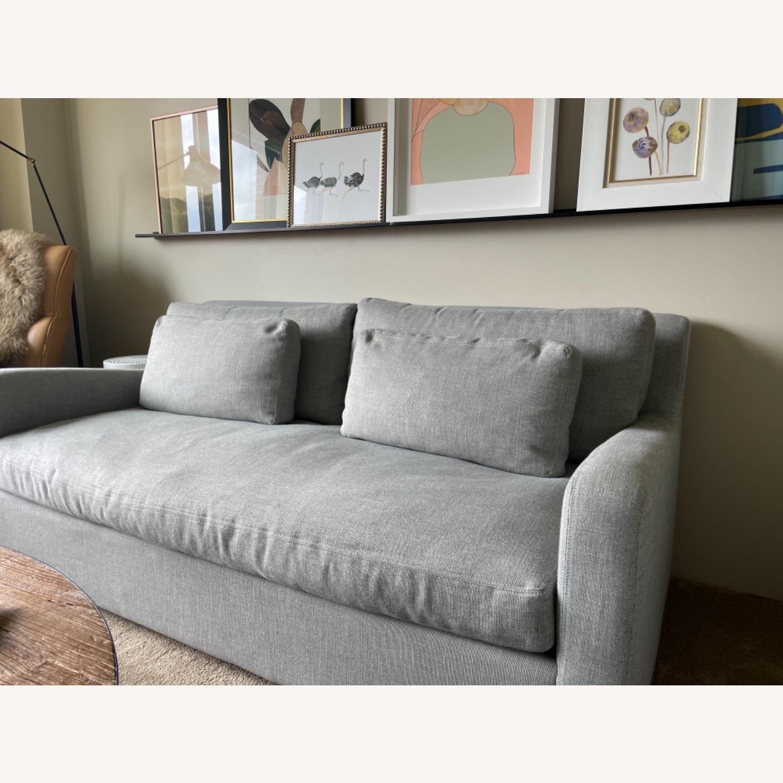 Restoration Hardware Belgian Slope Arm Sofa - Grey - image-1