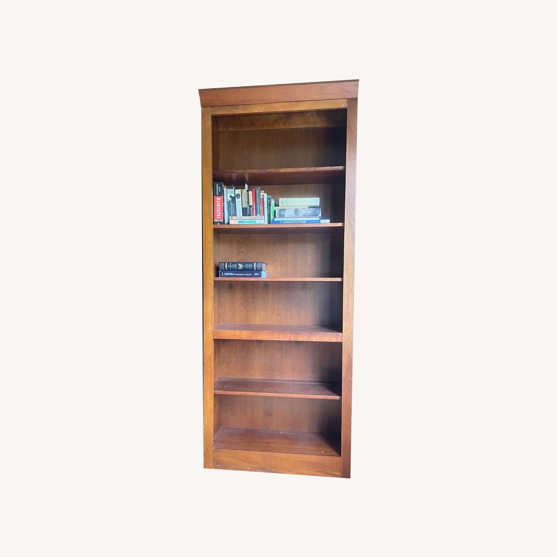 Ethan Allen Cherry Wood Book Shelves - image-0