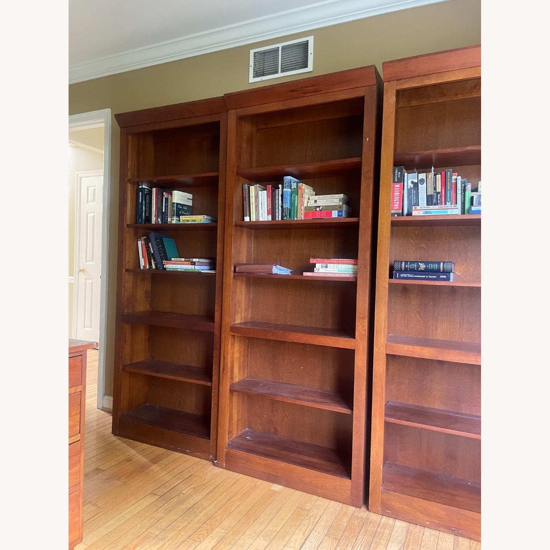 Ethan Allen Cherry Wood Book Shelves - image-1