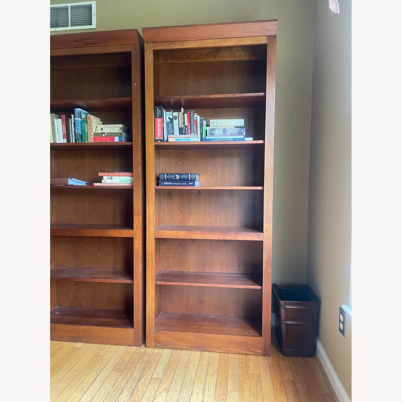 Ethan Allen Cherry Wood Book Shelves - image-2