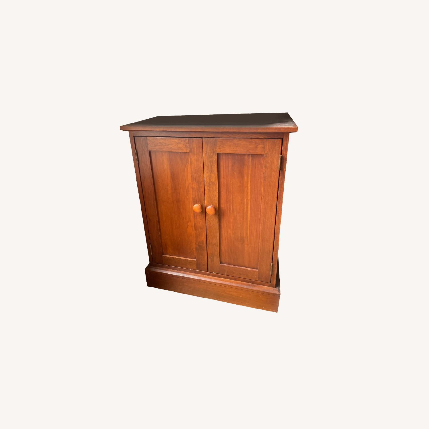 Ethan Allen Cherry Wood Office Table - image-0