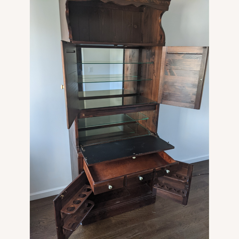 Ethan Allen Wine/Liquor Cabinet w/ Bookcase Top - image-2