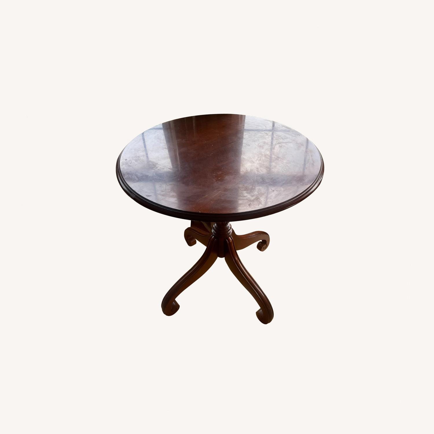 Ethan Allen Cherry Wood Accent Table - image-0