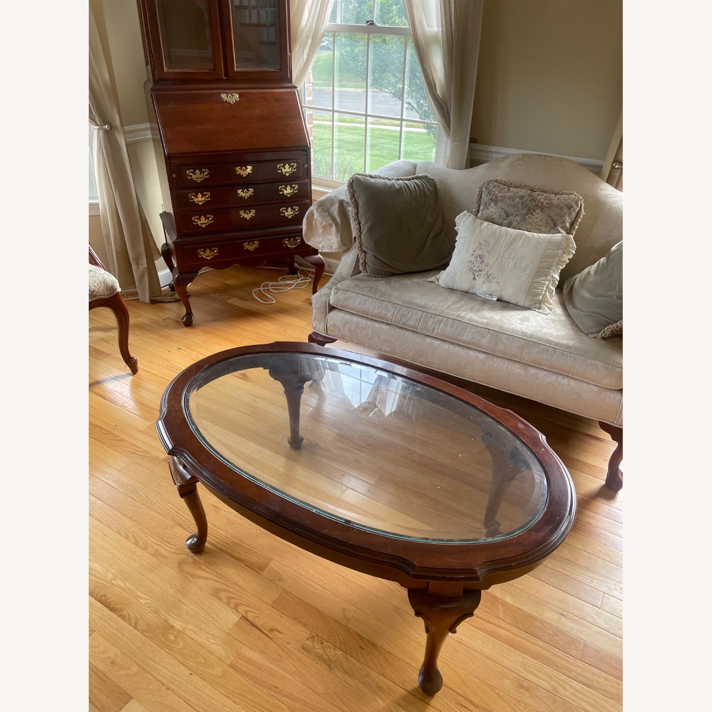Ethan Allen Georgian Cherry Wood Love Sofa - image-3