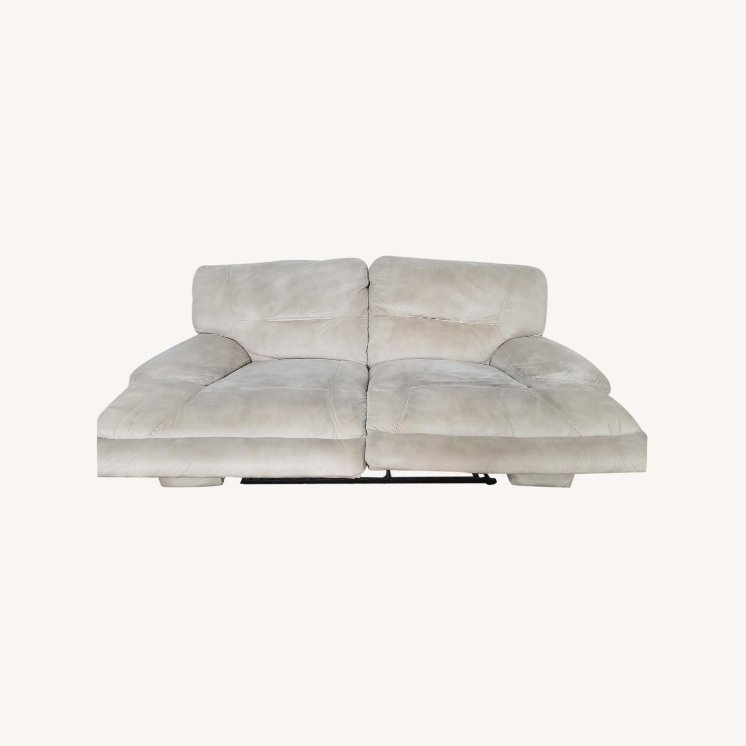 Rooms To Go Love Seat with Recliner - image-0