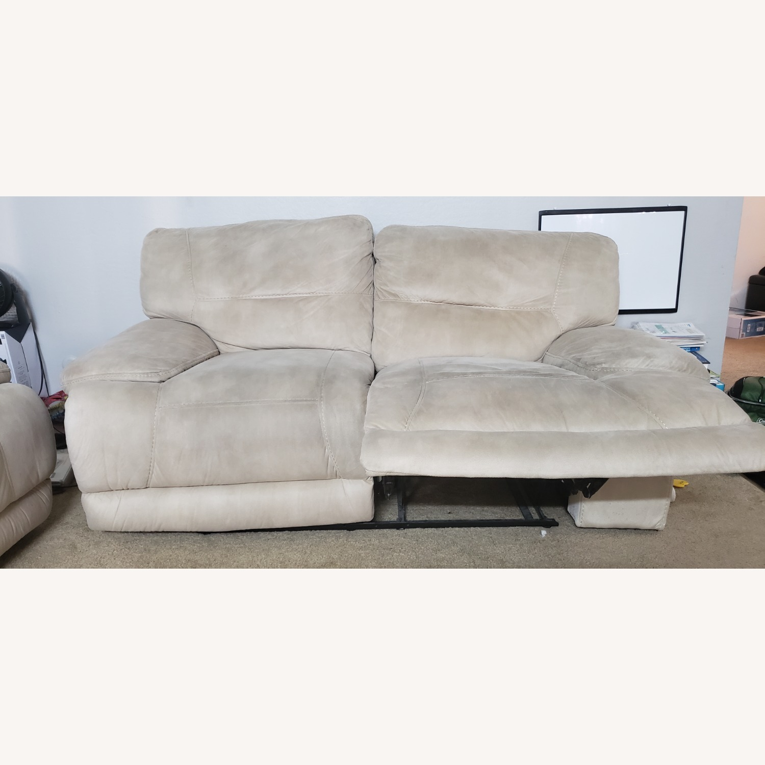 Rooms To Go Love Seat with Recliner - image-2