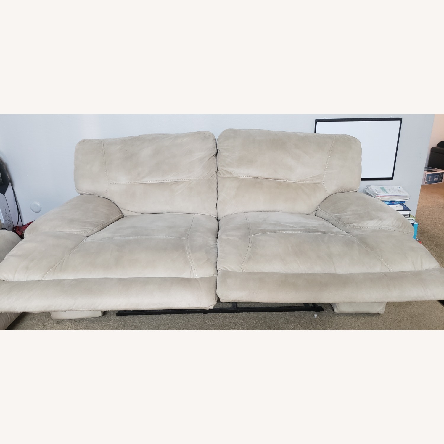 Rooms To Go Love Seat with Recliner - image-1
