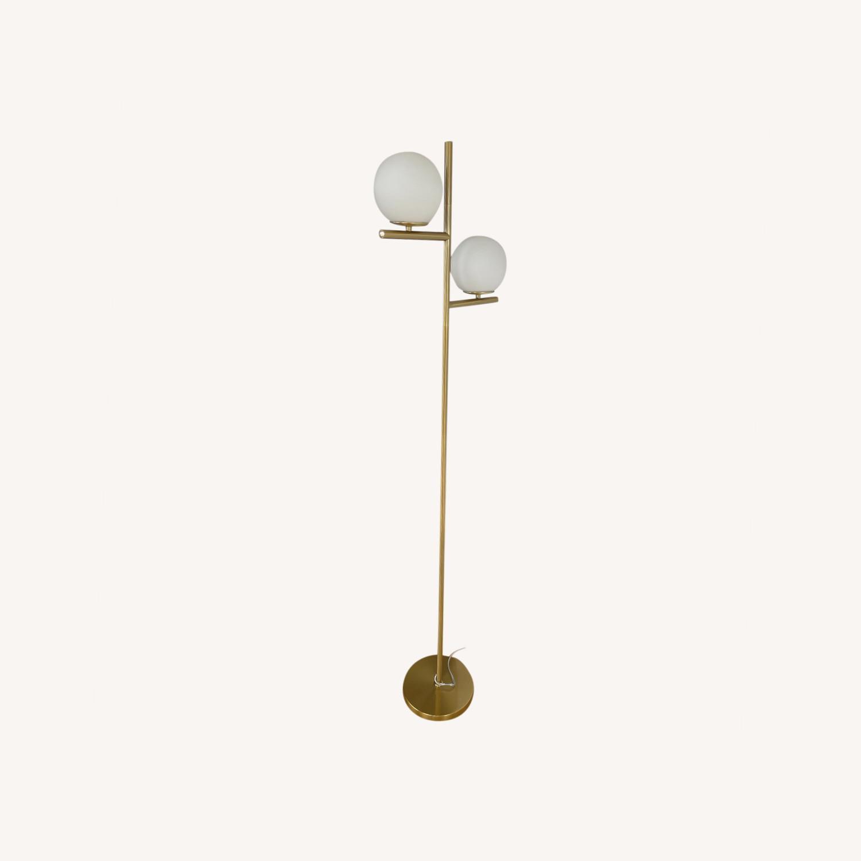 Floor Lamp - 2 Globe Modern Standing Lamp - image-0