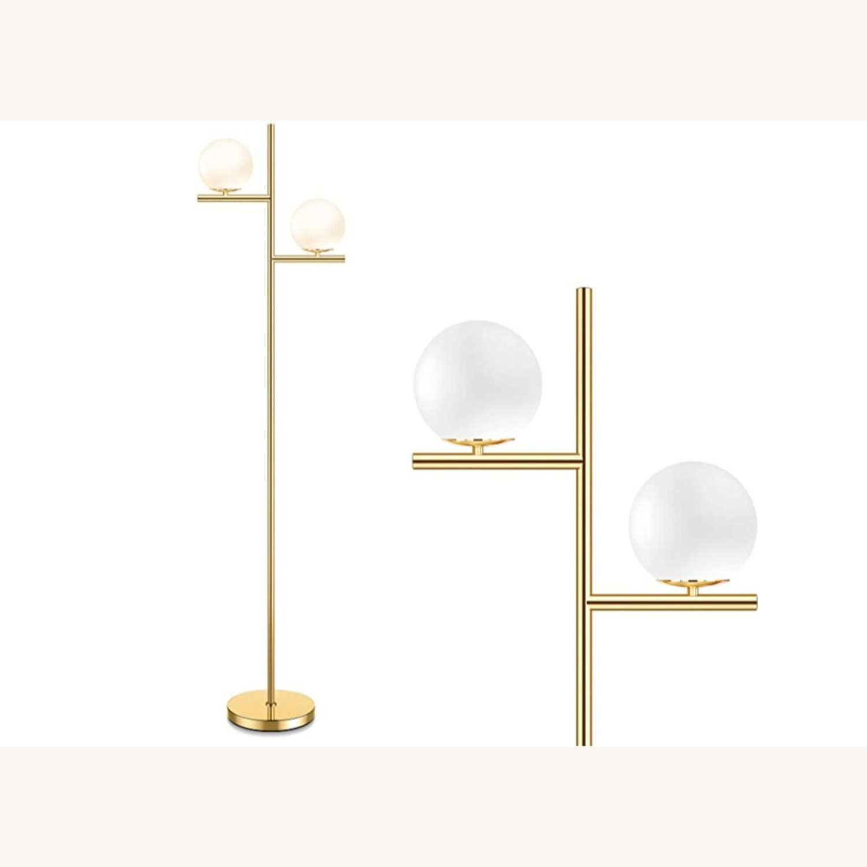 Floor Lamp - 2 Globe Modern Standing Lamp - image-3