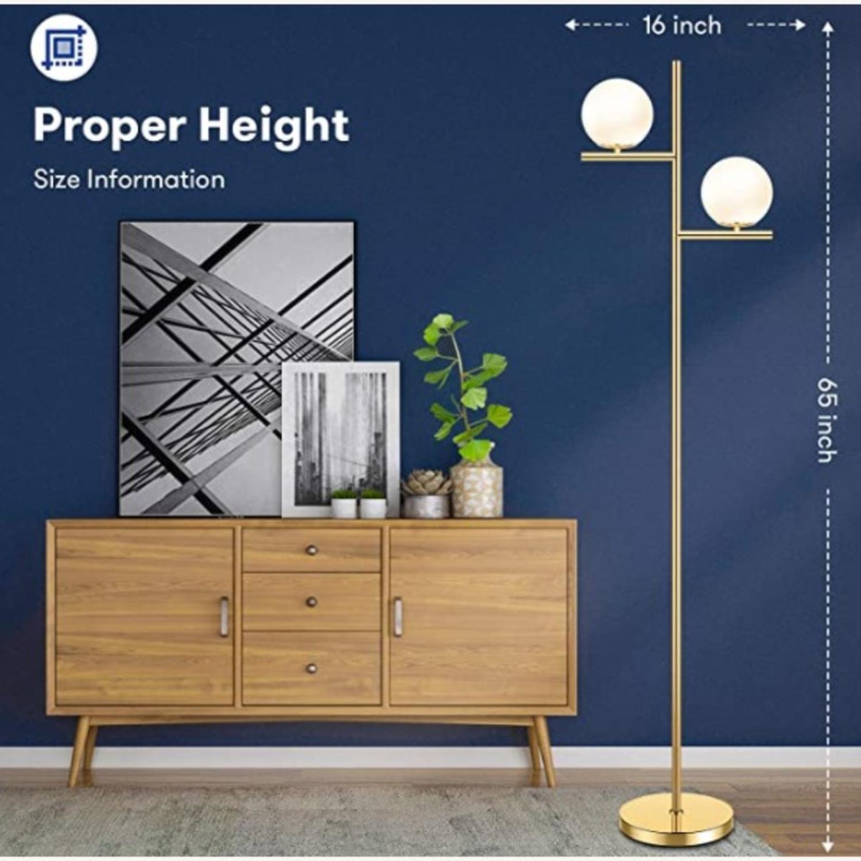 Floor Lamp - 2 Globe Modern Standing Lamp - image-2