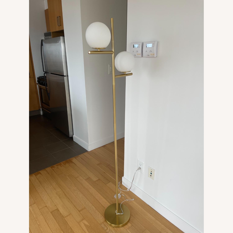 Floor Lamp - 2 Globe Modern Standing Lamp - image-1