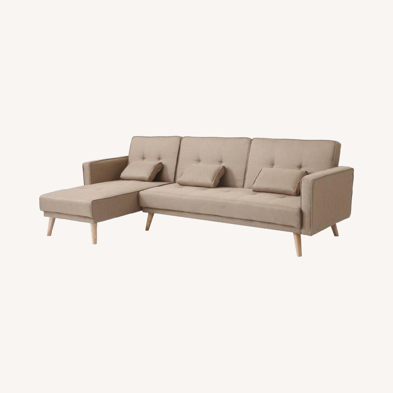 "Wayfair Easton 98.5"" Wide Reversible Sleeper Sofa & Chaise - image-0"