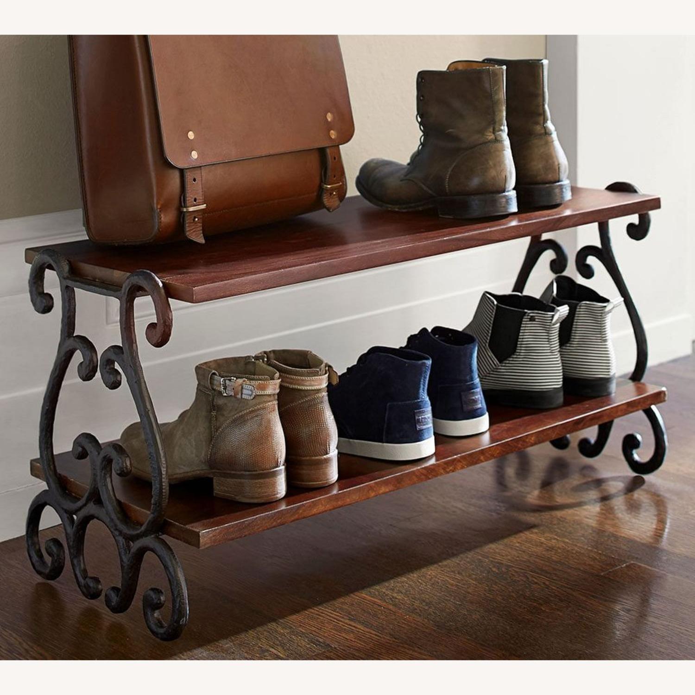 Pottery Barn Moran Mango Wood Shoe Rack - image-1