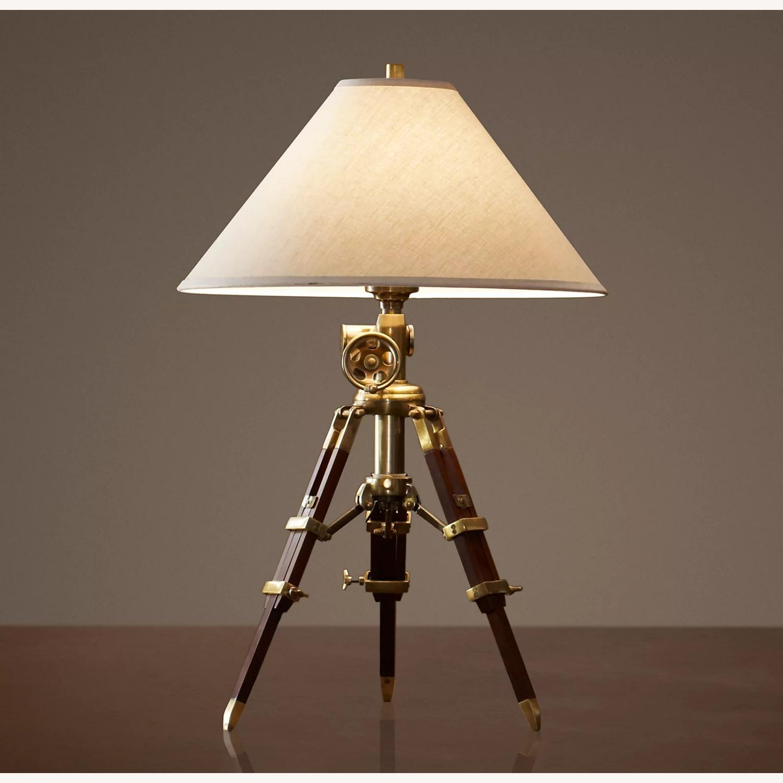 Restoration Hardware Tripod Table Lamps - image-0