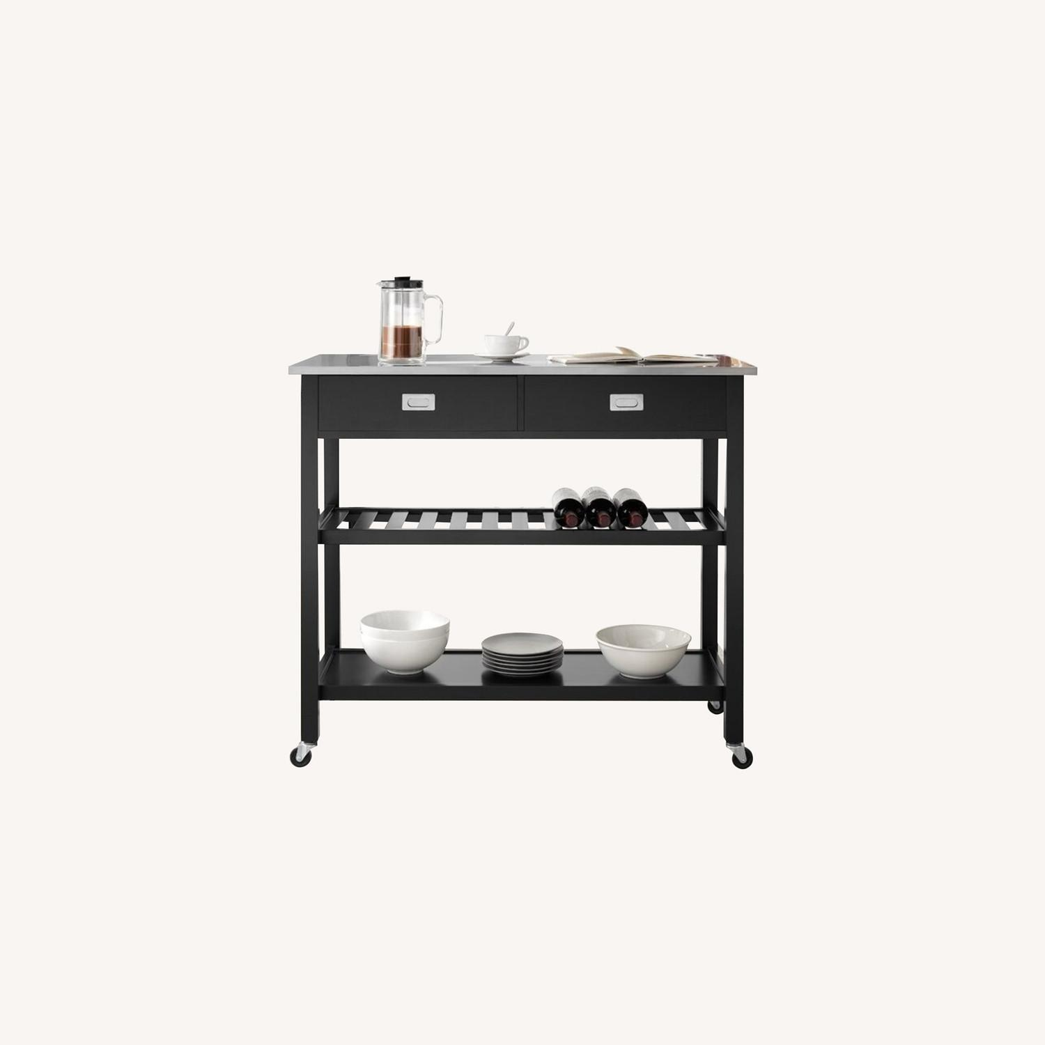 Wayfair Kitchen Island with Stainless Steel Top - image-0