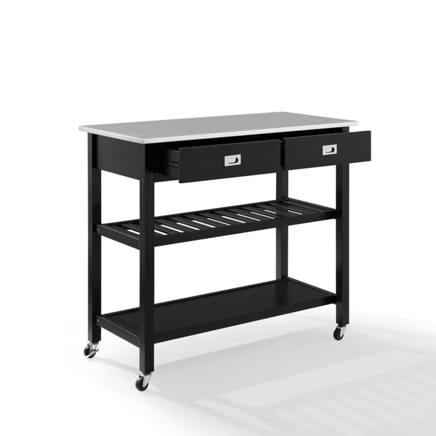 Wayfair Kitchen Island with Stainless Steel Top - image-3
