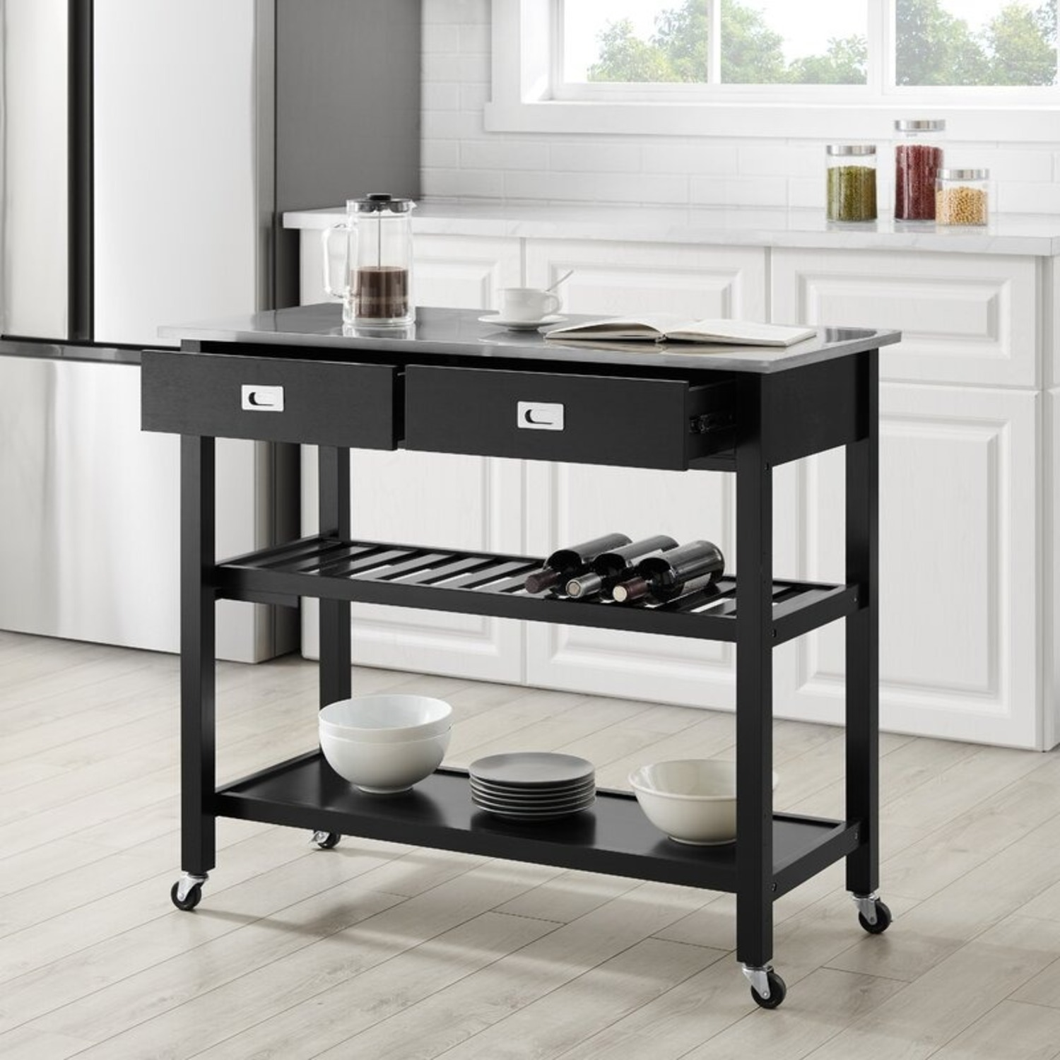 Wayfair Kitchen Island with Stainless Steel Top - image-2