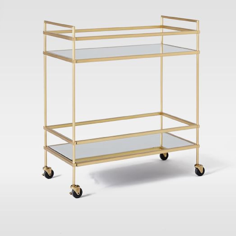 West Elm Terrace Bar Cart in Gold - image-5