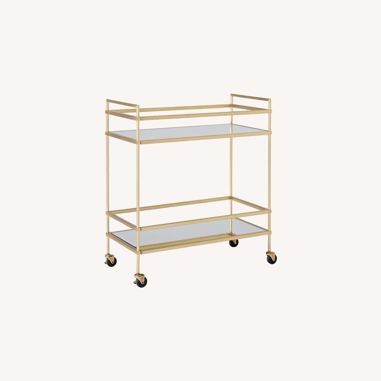 West Elm Terrace Bar Cart in Gold - image-0