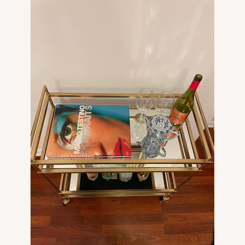 West Elm Terrace Bar Cart in Gold - image-4
