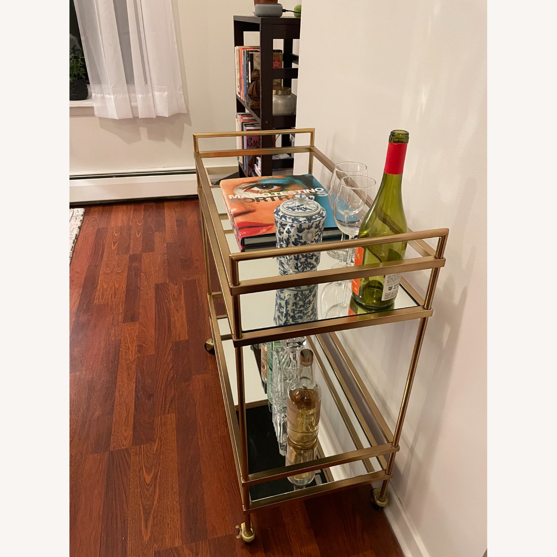 West Elm Terrace Bar Cart in Gold - image-3