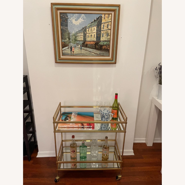West Elm Terrace Bar Cart in Gold - image-2