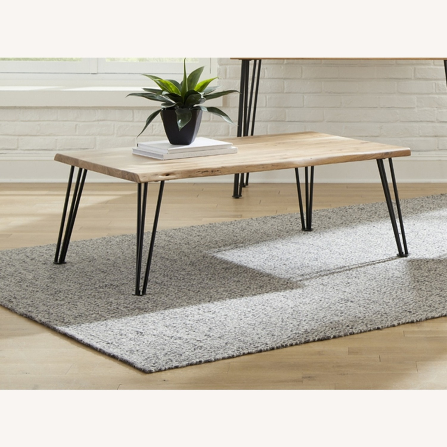 Coffee Table In Natural Acacia Wood Finish - image-1