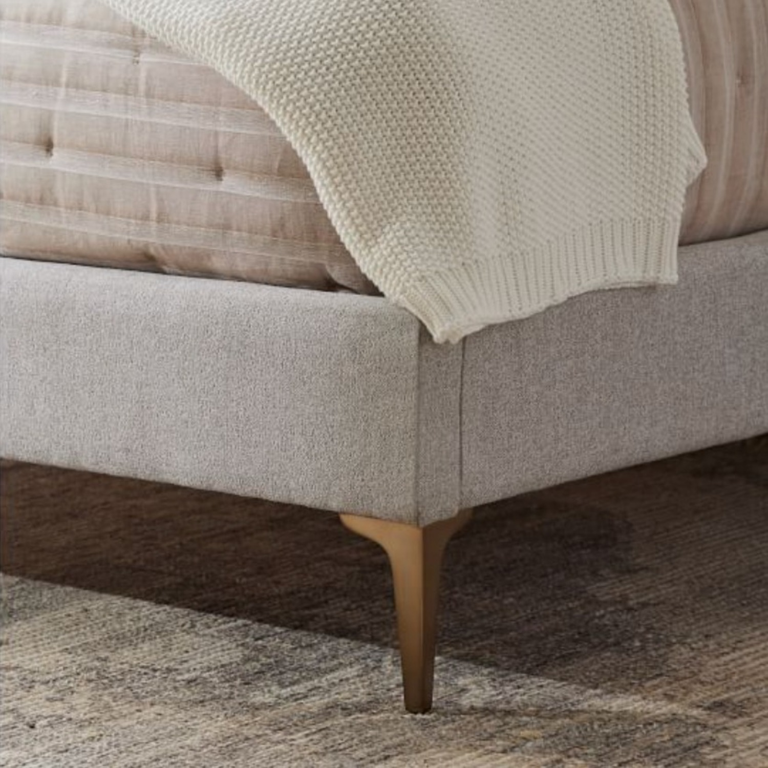 West Elm Andes Full Size Bed - Metal legs - image-2