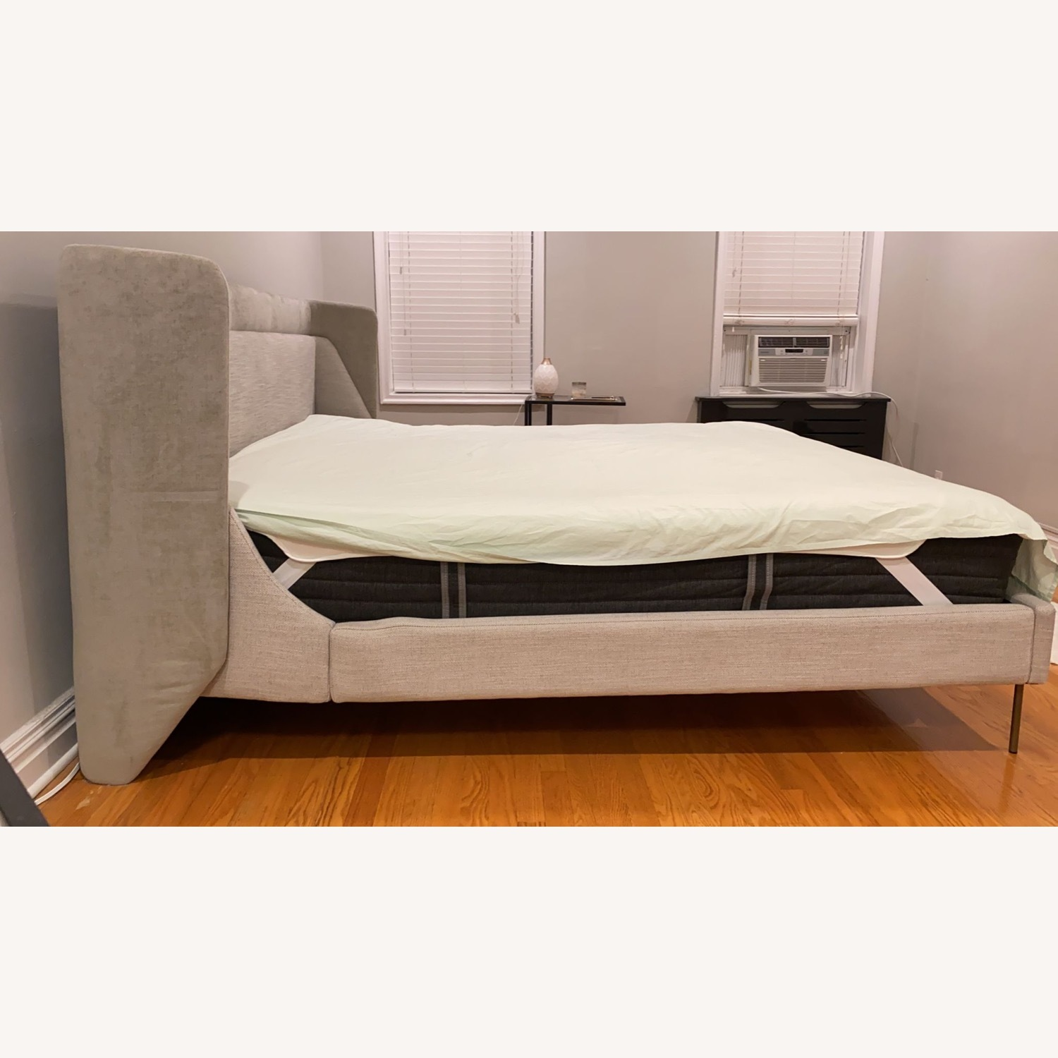 West Elm Thea Wing Bed (King Size) - image-2