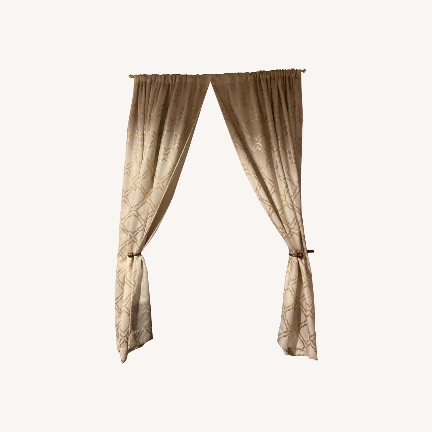 Target Gold Detailed Curtains - image-0