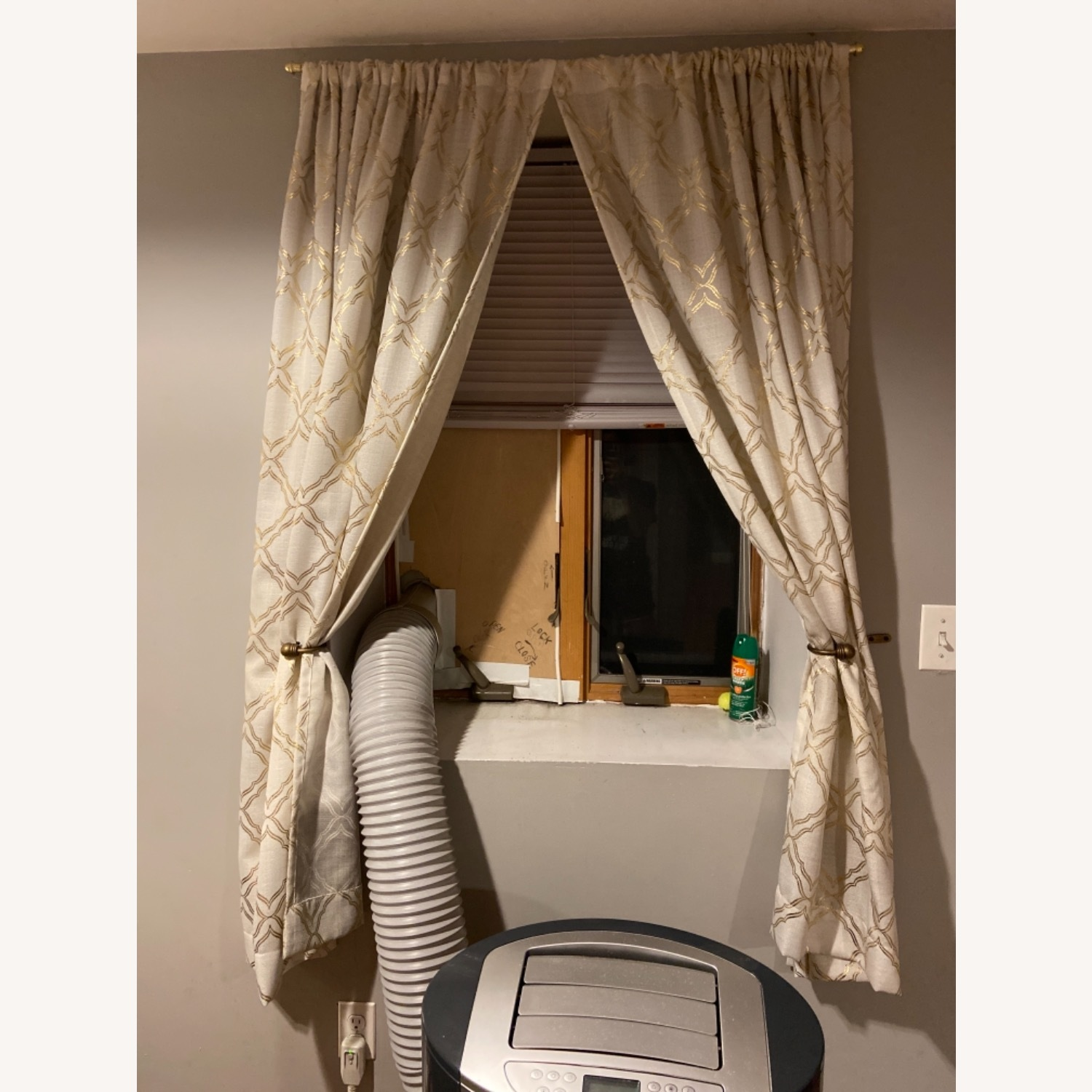 Target Gold Detailed Curtains - image-1