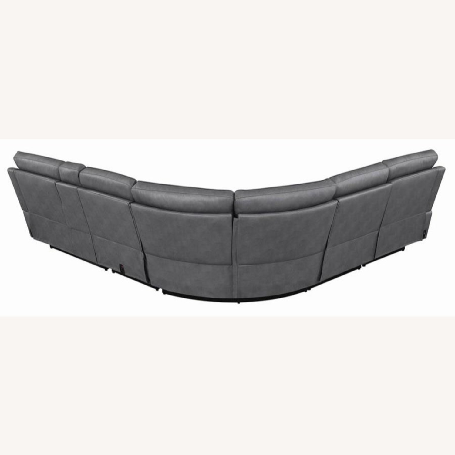 6-Piece Power2 Sectional In Grey Leatherette - image-6