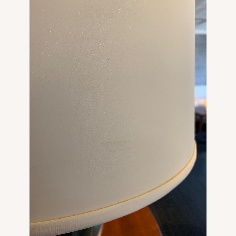 Ethan Allen Otis Large Silver Table Lamp - Pair - image-3