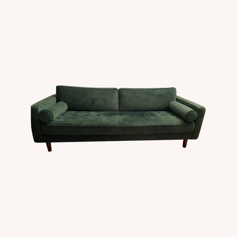 Dark Green Couch - Mid Century - image-0