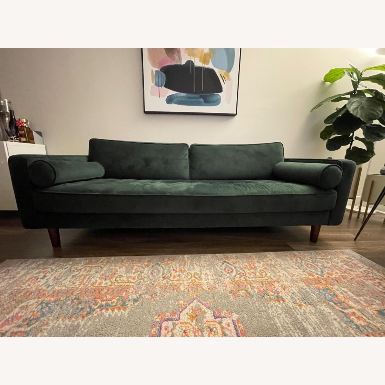Dark Green Couch - Mid Century - image-2