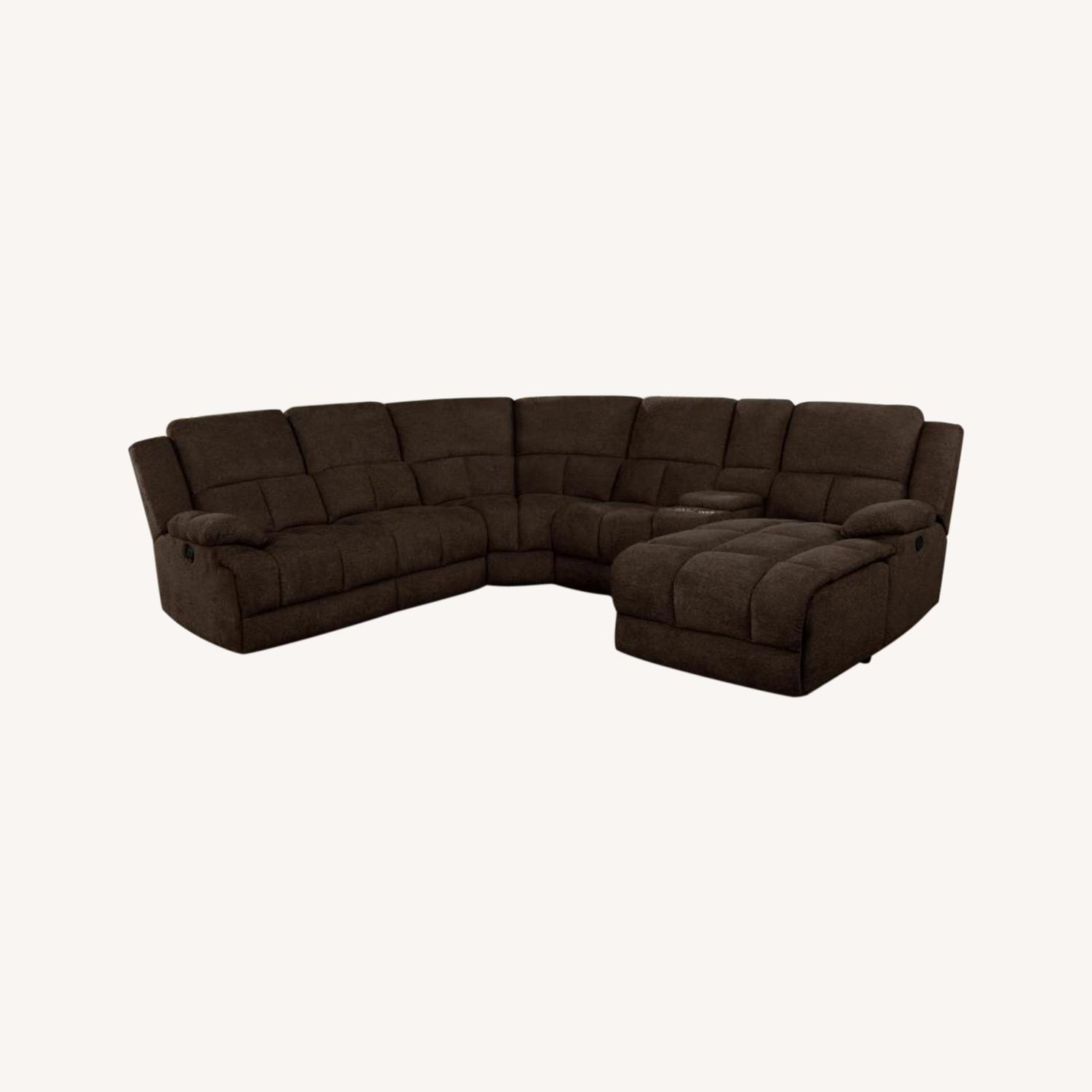Motion Sectional In Brown Performance Fabric - image-17