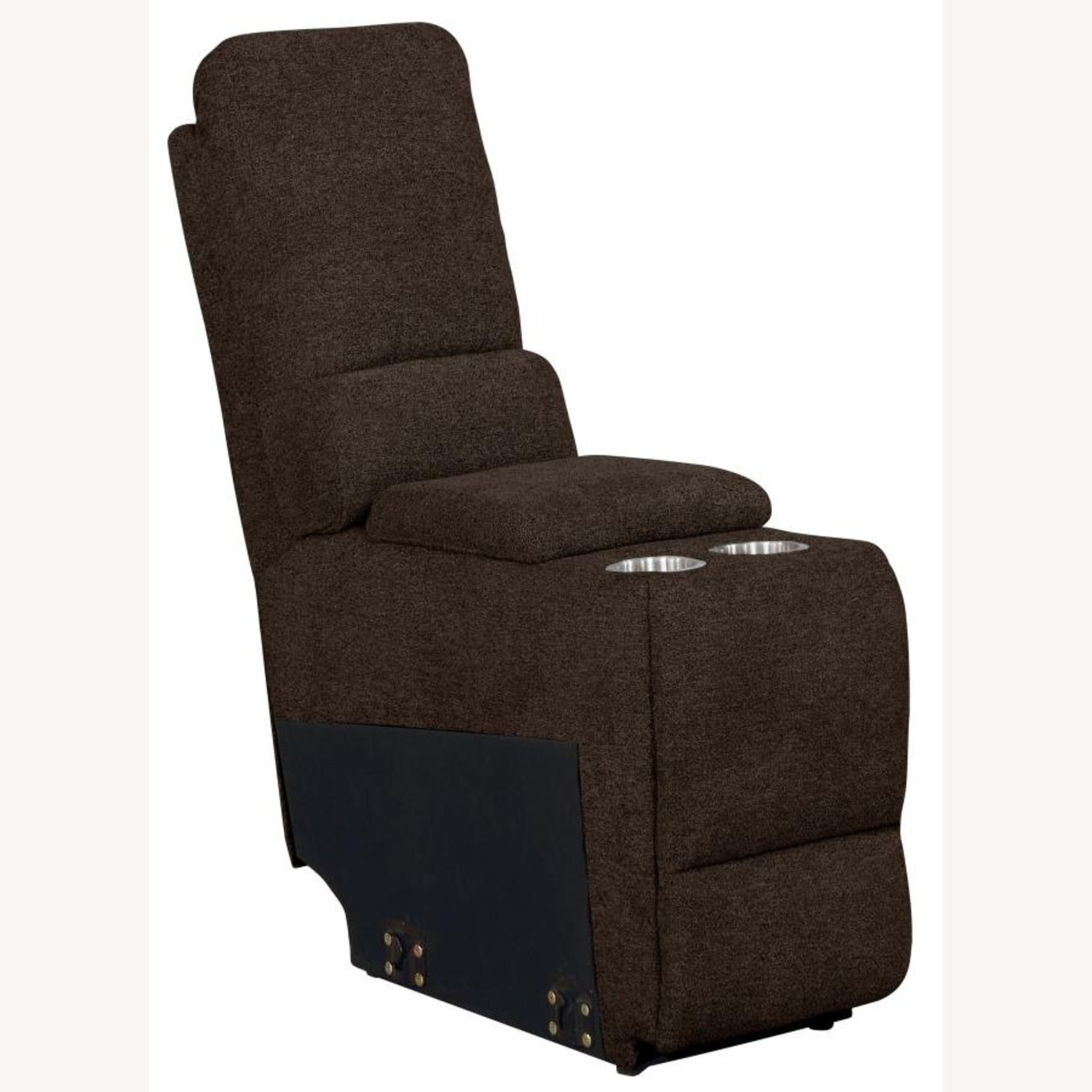 Motion Sectional In Brown Performance Fabric - image-4