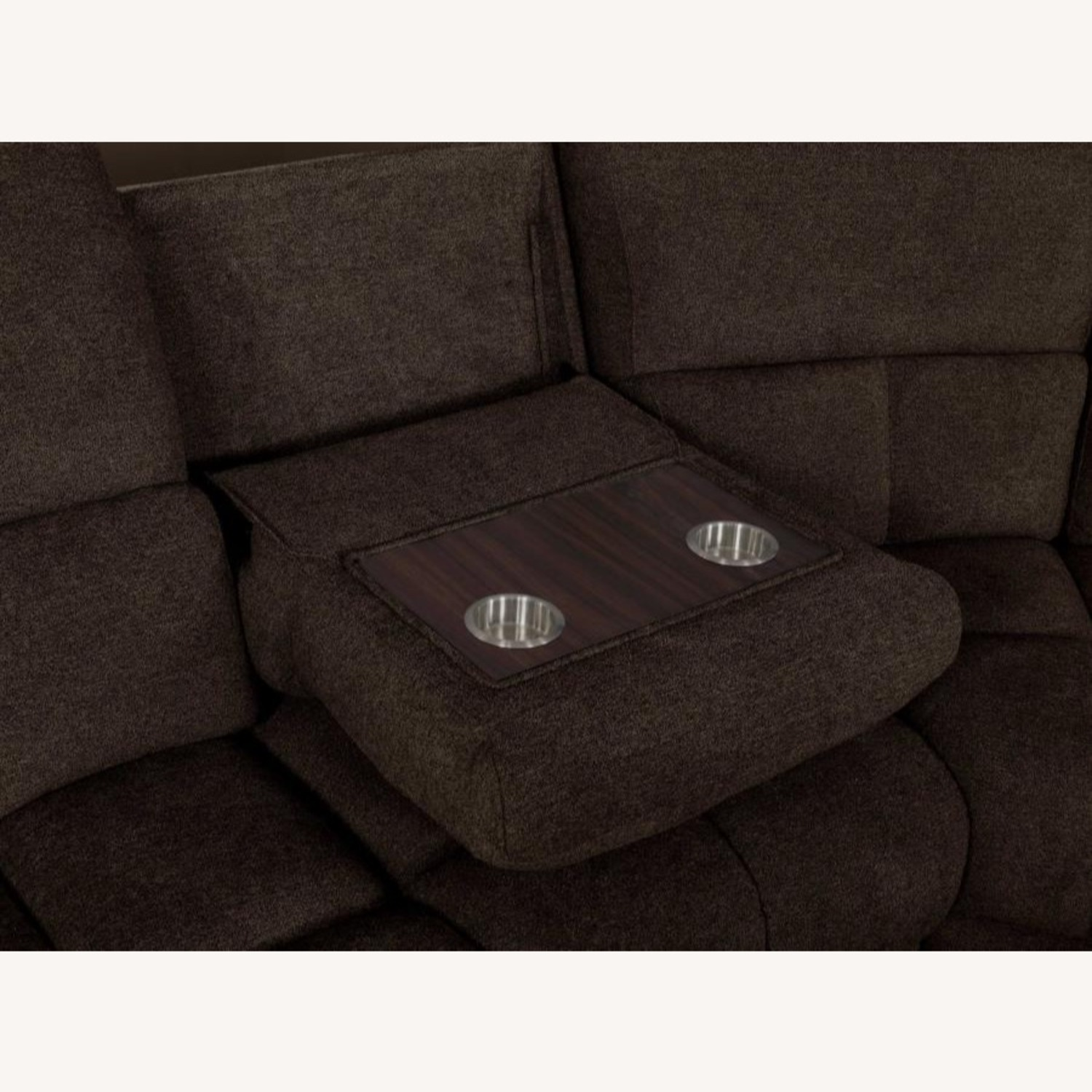 Motion Sectional In Brown Performance Fabric - image-7