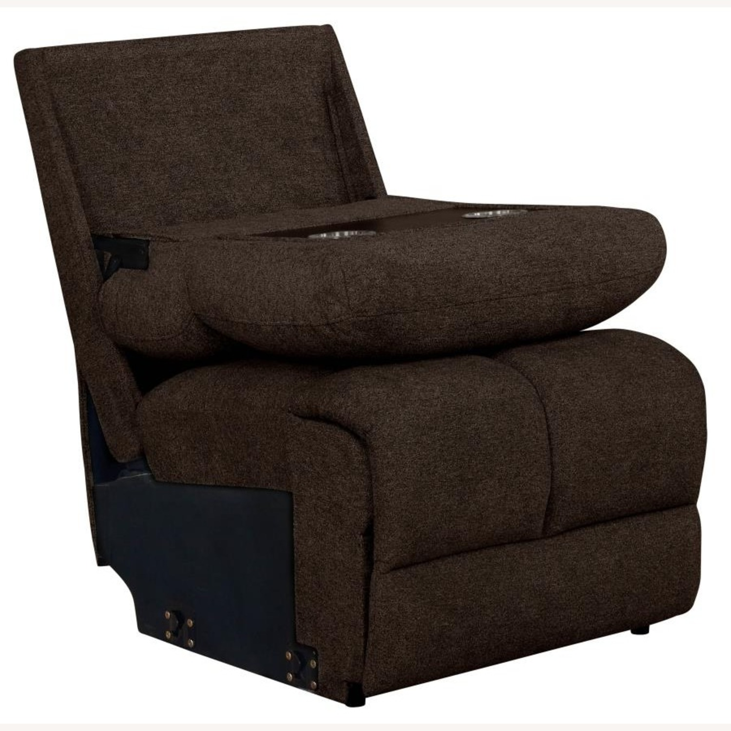 Motion Sectional In Brown Performance Fabric - image-2