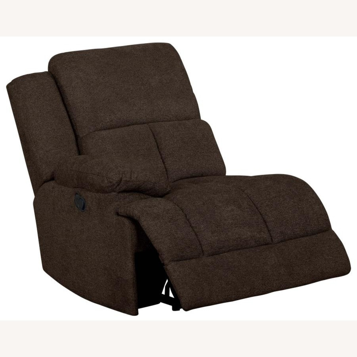 Motion Sectional In Brown Performance Fabric - image-1